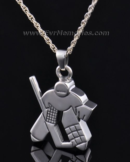 Sterling Hockey Player Cremation Jewelry To Honor A Sports Fan Remembrance Jewelry Hockey Jewelry Silver Jewelry Gifts