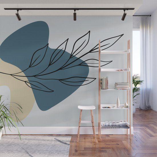 Minimal Leaf Wall Mural by wheimay
