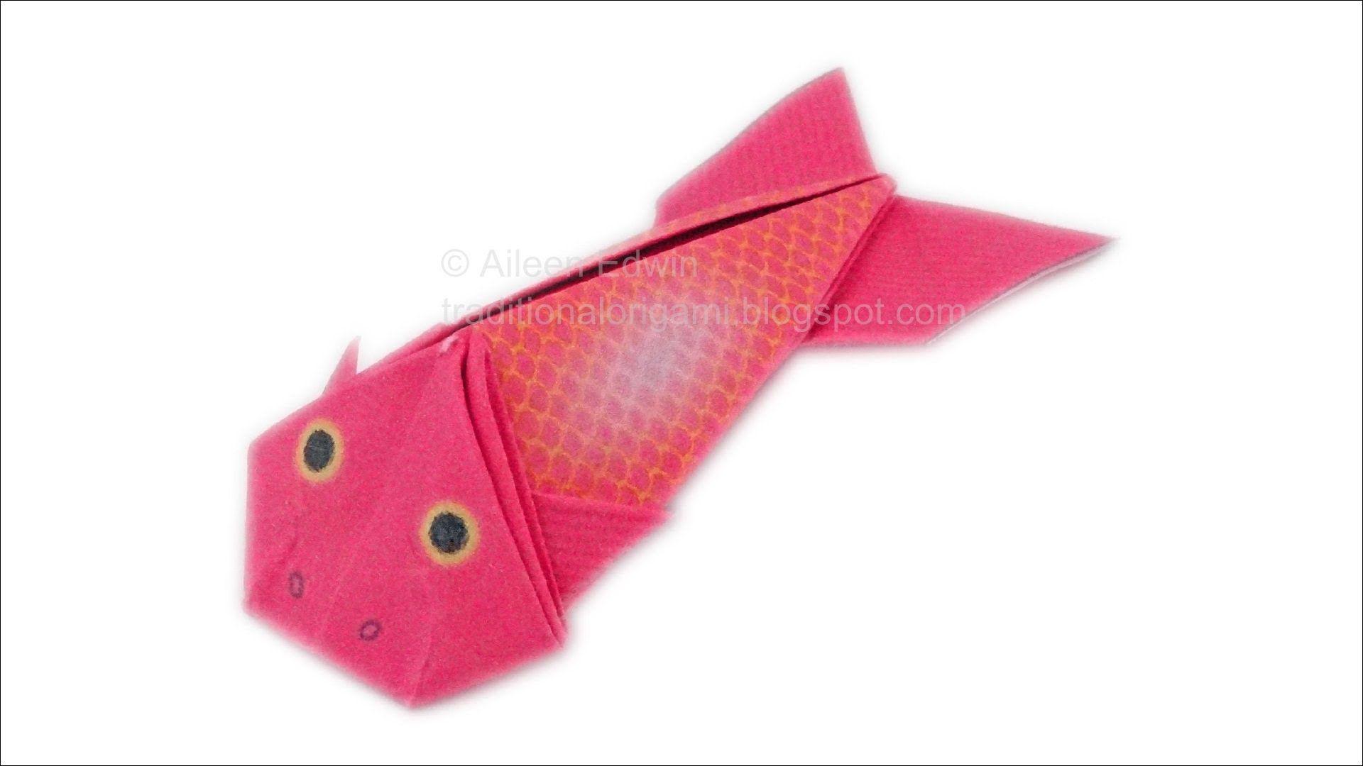 Origami Fish (Aileen Edwin) Video Tutorial *HD*