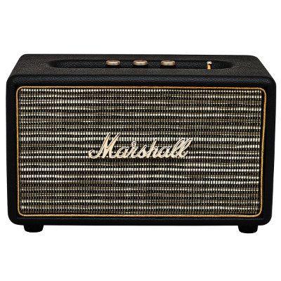 Marshall Acton on kompaktikokoinen stereokaiutin, jossa Bluetooth-yhteys langattomaan musiikin suoratoistoon. Kaiuttimessa on ikoninen Marshall-vahvistista tuttu muotoilu.