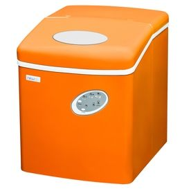 Newair 28 Lb Drop Down Portable Ice Maker Orange Ai 100vo