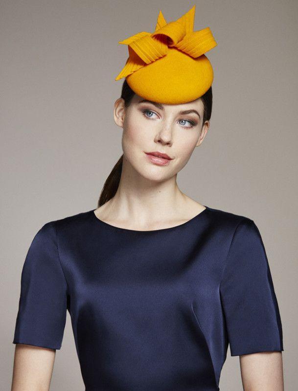 Juliette Botterill Millinery | Twist Detail Mini | Orange and Berets | LOVEHATS.COM