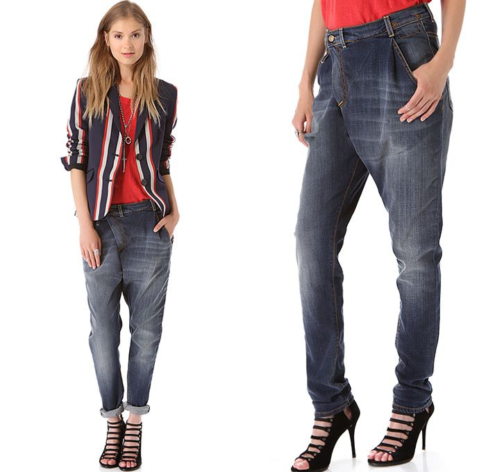 R13 Denim New YorkWomens Crossover Jeans Slouchy Fit