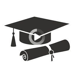 Graduation Cap Diploma Black Web Icon Stock Vector (Royalty Free) 1563