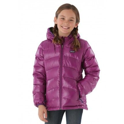 9d38e5969590 Patagonia Girls Hi-Loft Down Sweater Hoody (Ikat Purple)