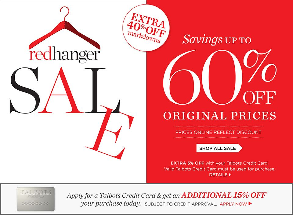 Red Hanger Sale Extra 40 Markdowns Savings Up To 60 Off Original Prices Prices Online Reflect Discount Ex Clearance Stores Discount Shopping How To Apply