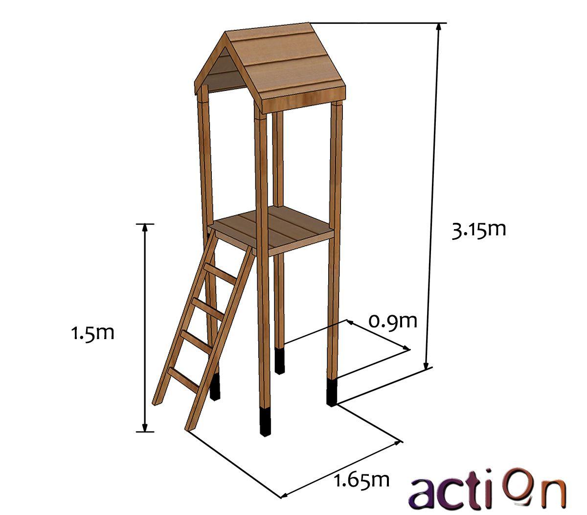 Arundel Climbing Frame Tower Only | Garden Climbing Frames ...