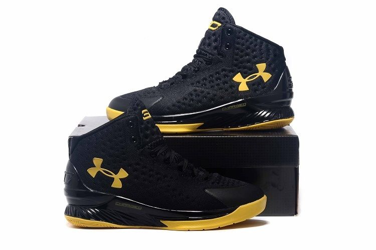 f0e6a70866b5 Under Armour Curry Championship Black Yellow Shoes