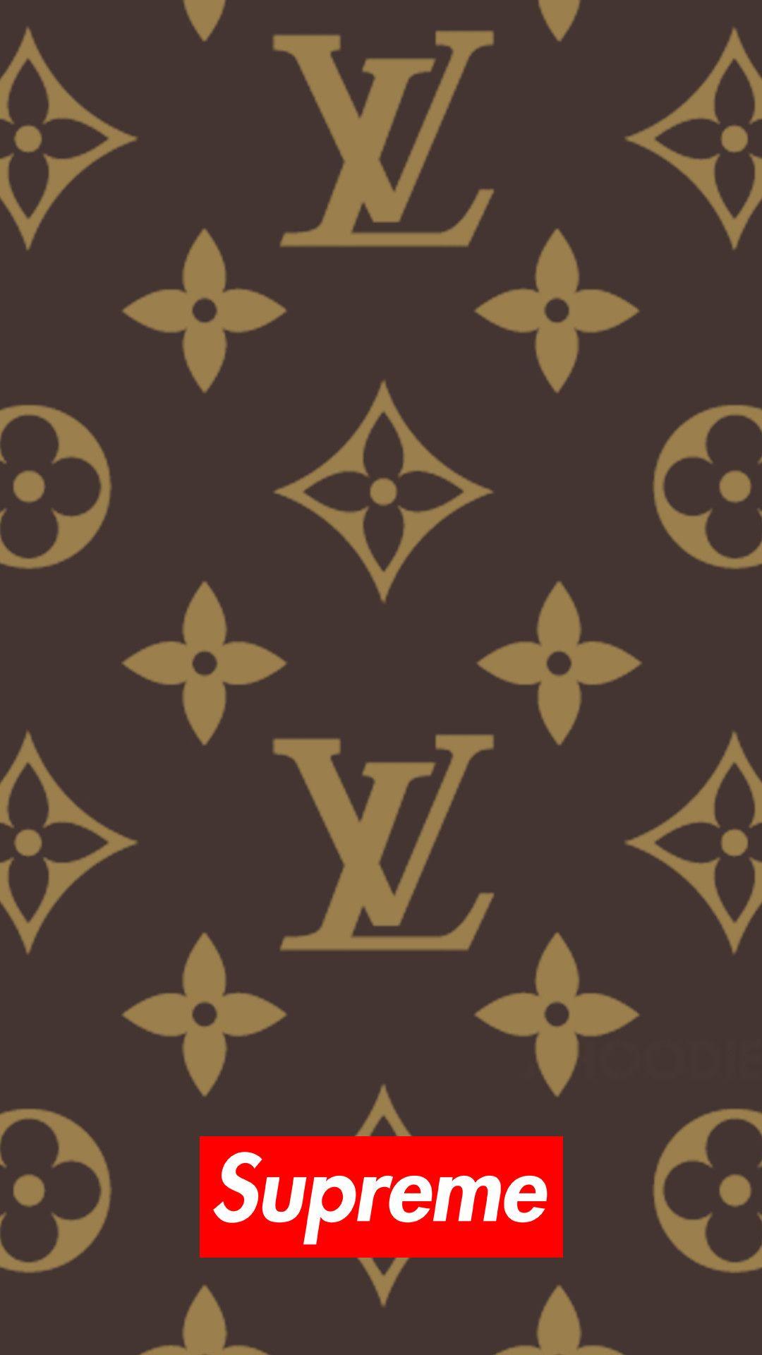 1080x1920 Download Supreme X Louis Vuitton 1080 X 1920 Wallpapers
