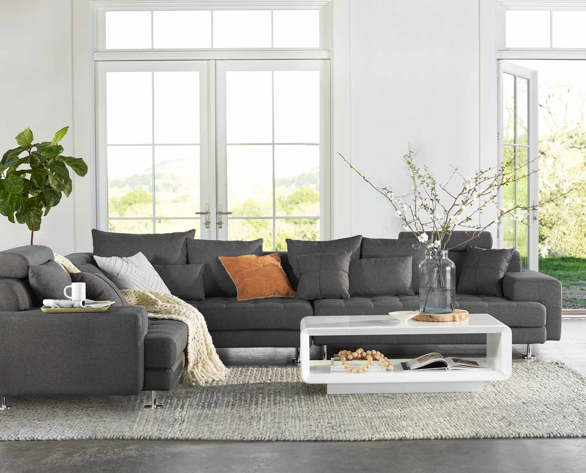 Beau Scandinavian Designs   Sink Into The All Around Comfort Of The Cepella  Sectional. With Plenty Of Room For The Entire Family, This Sectional  Combines A ...