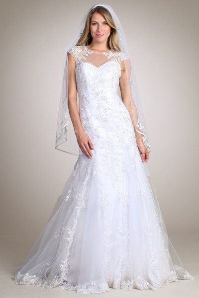 Lace Fit N Flare Wedding Dress Mt 162 Closeout