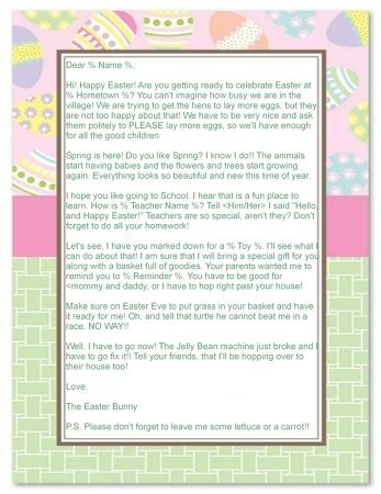Letter from the Easter Bunny $ 1295 Letter from the Easter Bunny - best of leave letter format going hometown