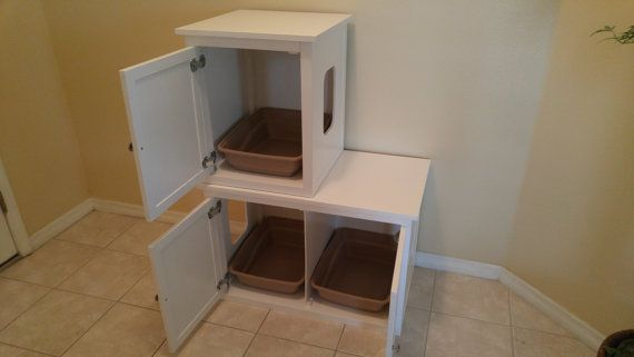 Stacked Single On Double Odor Free Custom By Fureverpetfurniture