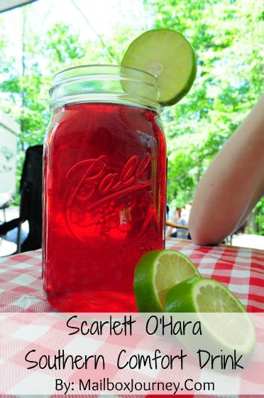 Scarlett O Hara Southern Comfort Drink By Mailbox Journey Smoothie Drinks Summertime Drinks Drinks