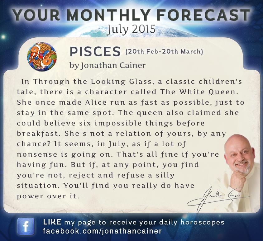 jonathan cainer horoscopes pisces