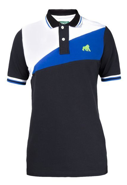 Camiseta polo Goco color negro blanco azul claro 6b9ff1e49c377