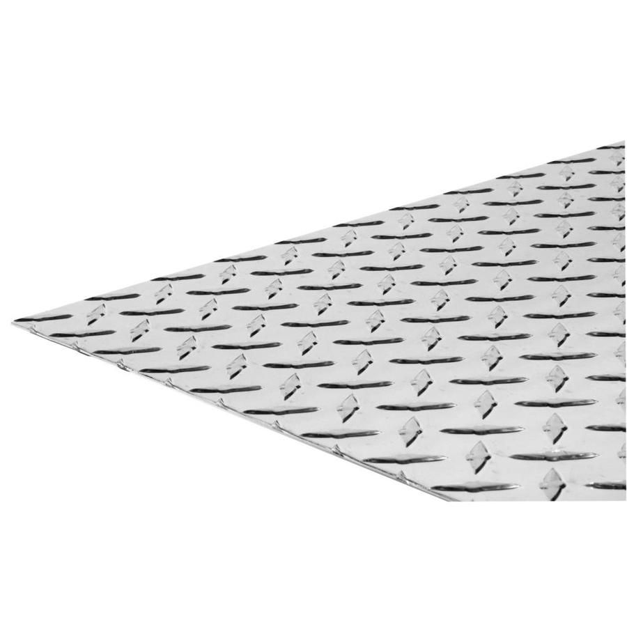 Steelworks 24 In W X 48 In L Bright Aluminum Tread Plate Tread Plate Sheet Metal 11256 In 2020 Aluminum Sheet Metal Sheet Metal Aluminium Sheet
