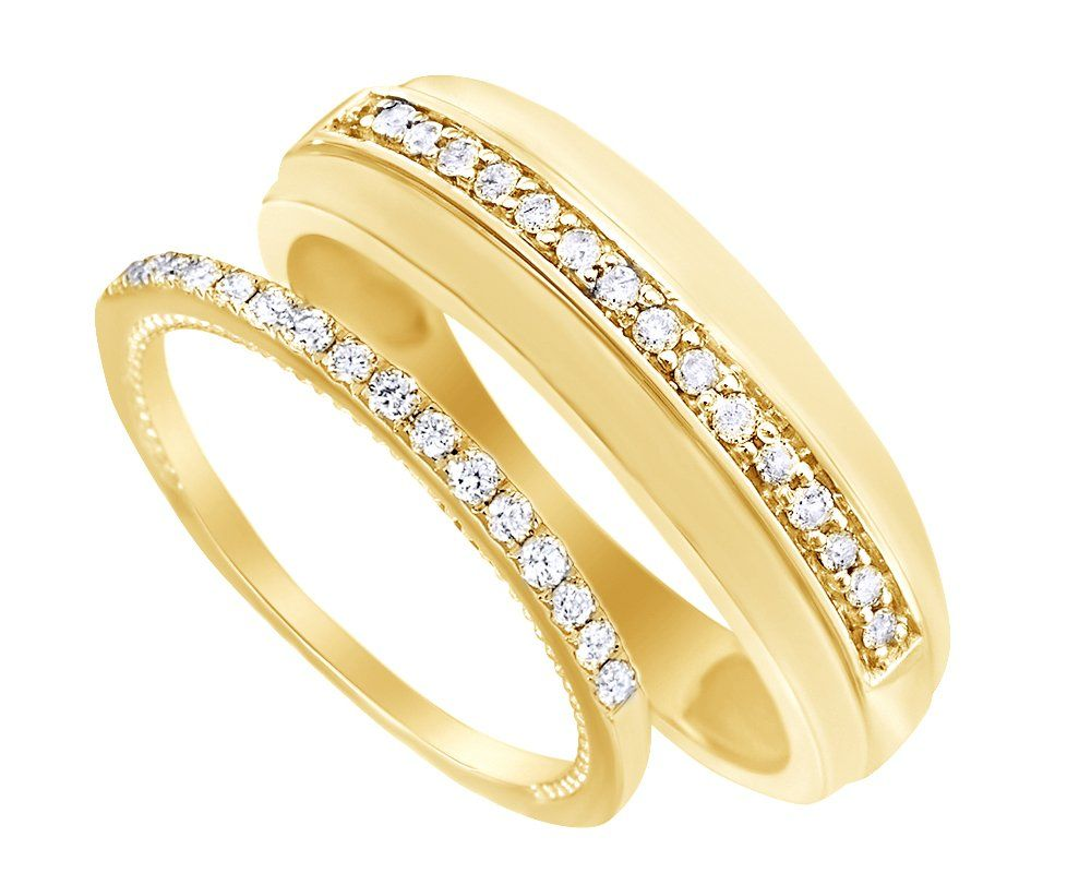 G-H,I2-I3 1//10 cttw, Diamond Wedding Band in 10K Yellow Gold Size-9.25