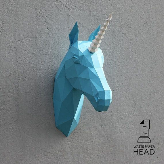 04 paper unicorn head printable digital template kids gyerekszoba pinterest einhorn. Black Bedroom Furniture Sets. Home Design Ideas