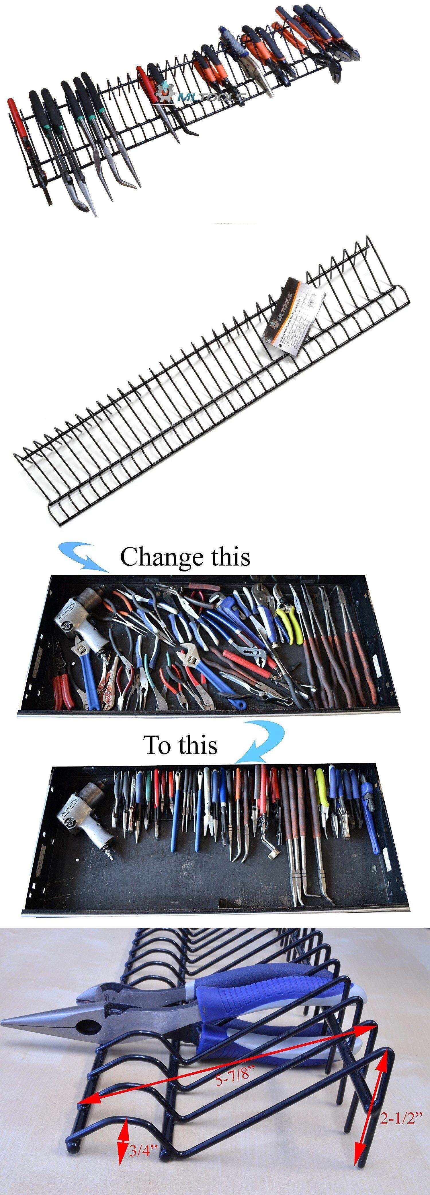 32 Tools Pliers Cutters Organizer Garage Tool Storage Rack Holder Drawer Box