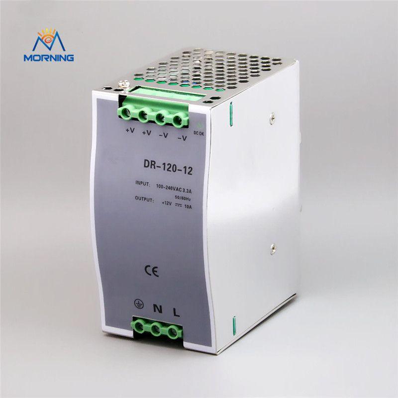 DR-120-12 120W 12Volt stable DC voltage source converter din rail ...
