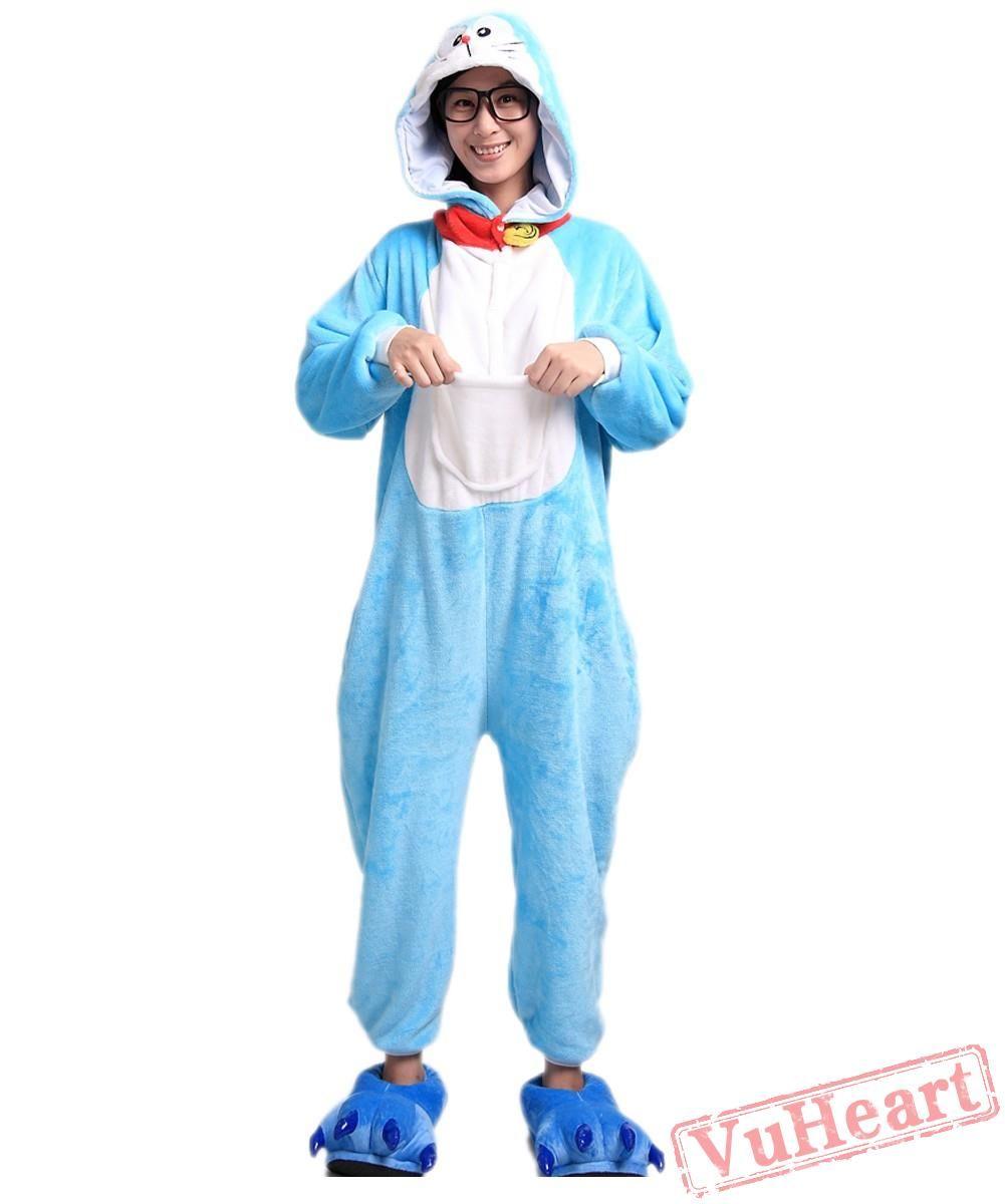 Doraemon kigurumi onesies pajamas costumes for women men