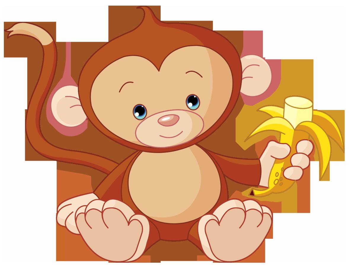 Cute Funny Cartoon Baby Monkey Clip Art Images. All Monkey