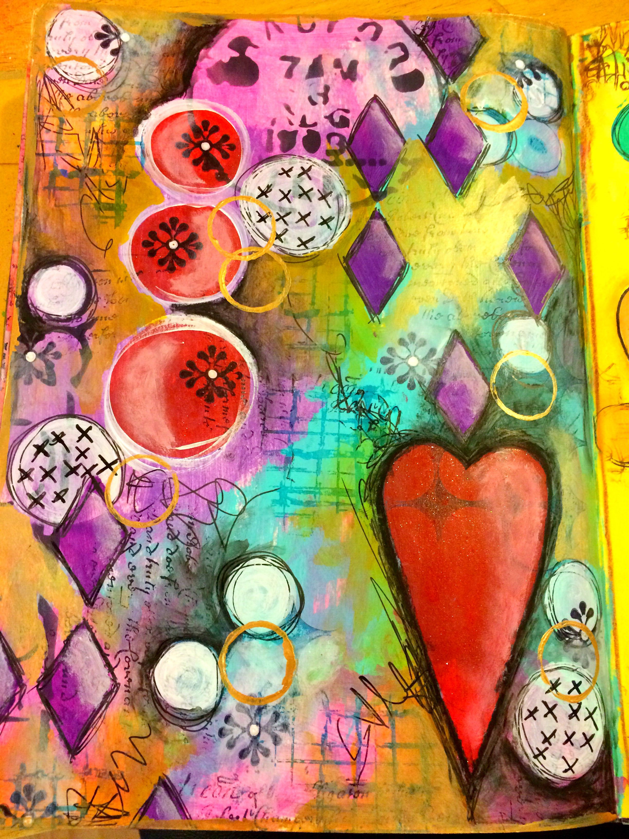 Art journal playtime