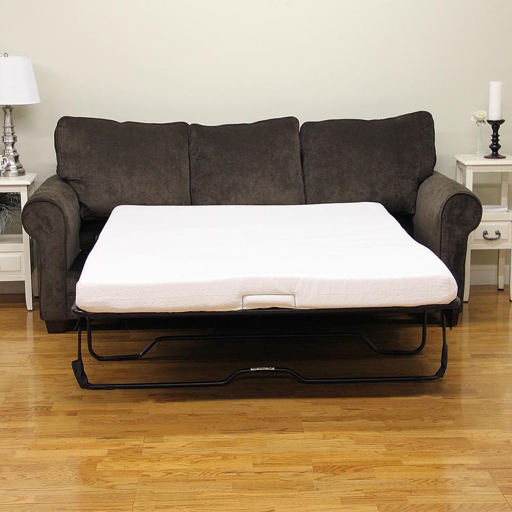 Sleep Options Classic QueenSize Memory Foam 4.5 in. Sofa