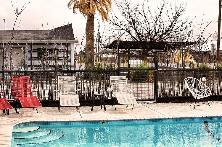 Vacation Plan Package And Or Guides Poolside In Marfa Texas