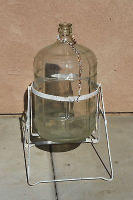 vintage 5 gallon water jug with tilt rack