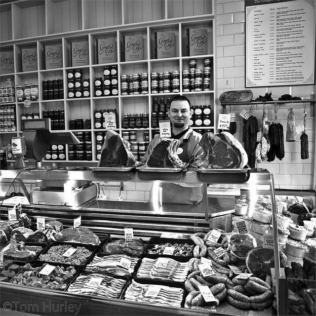 The Ginger Pig butchers shop, Lauriston road, Hackney, East London. by Tom Hurley., via Flickr