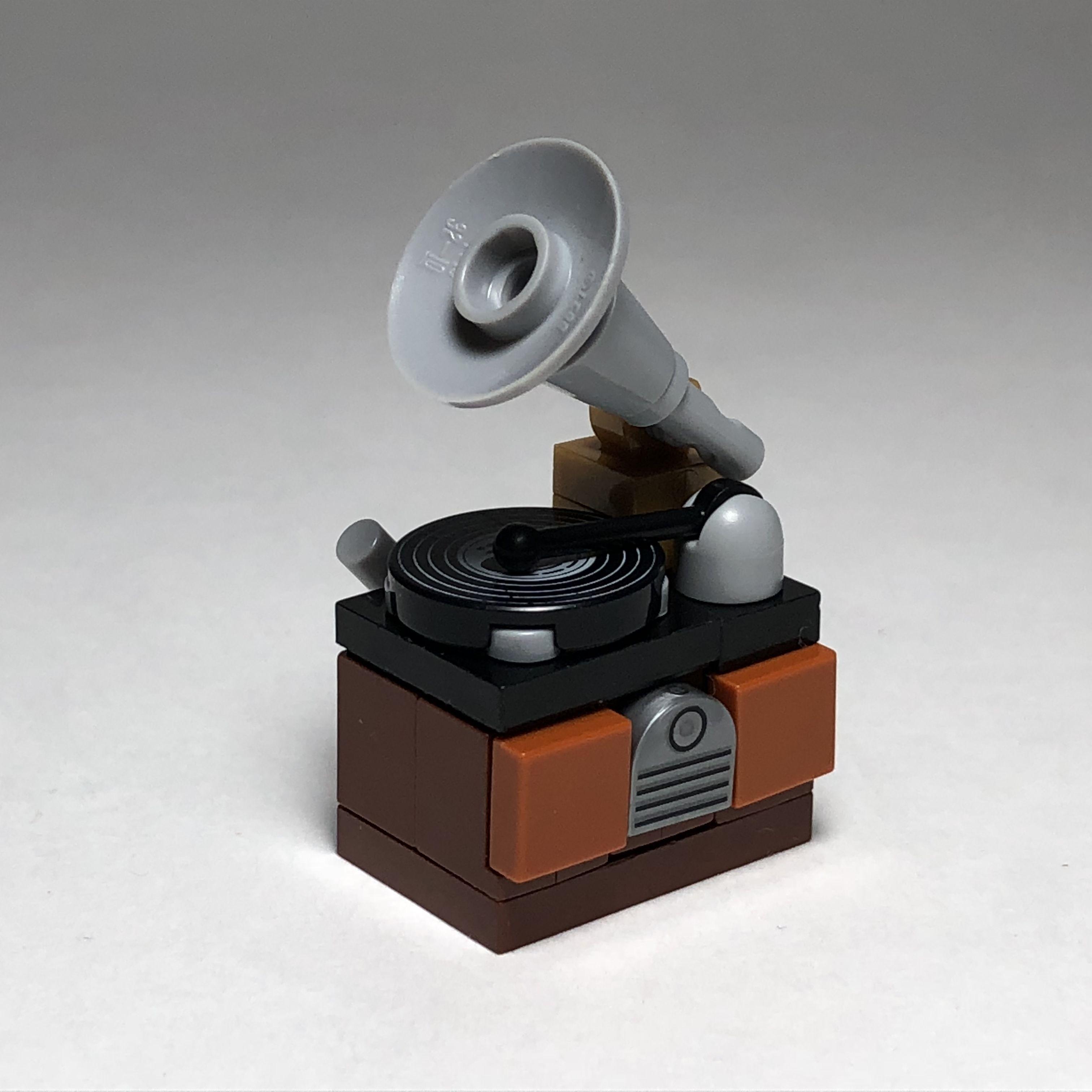 Lego Antique Gramophonerecord Player Lego Projects Lego