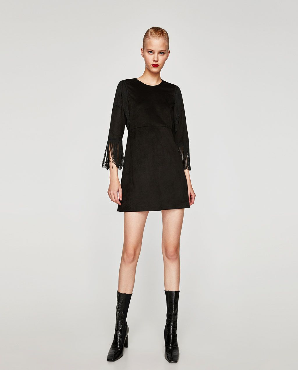 c7e61117 SUEDE EFFECT DRESS-Mini-DRESSES-WOMAN | ZARA United States Zara United  States