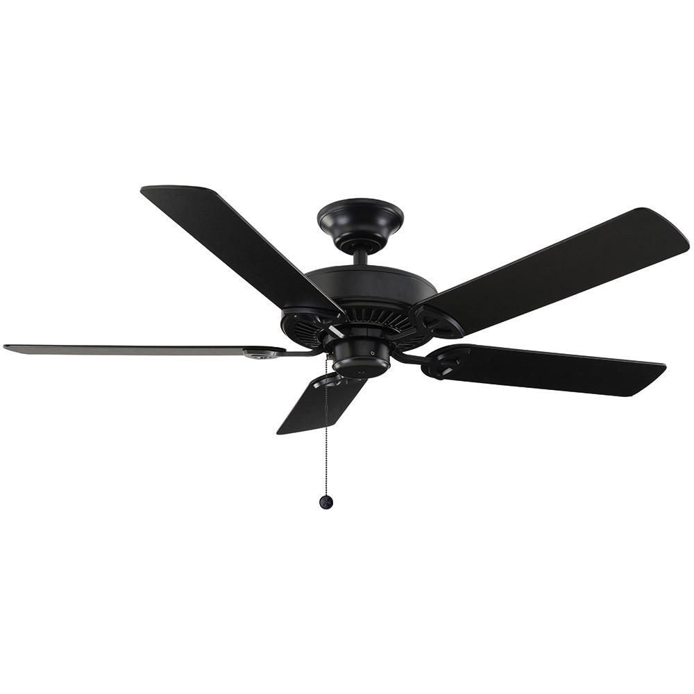 Hampton Bay Farmington 52 In Indoor Natural Iron Ceiling Fan 32764 The Home Depot Ceiling Fan Ceiling Fans Without Lights Black Ceiling Fan