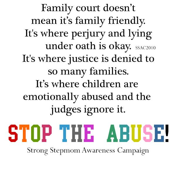 Family court Strong Stepmom Awareness Campaign Pinterest - sample civil complaint form