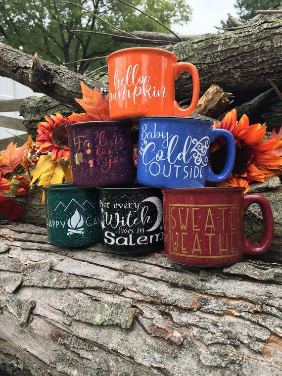 Hello Pumpkin Mug, 15 oz Mug, Ceramic Mug, Coffee Mug, Campfire Mug, Holiday, Fall, PSL, Pumpkin Spi #custommugs