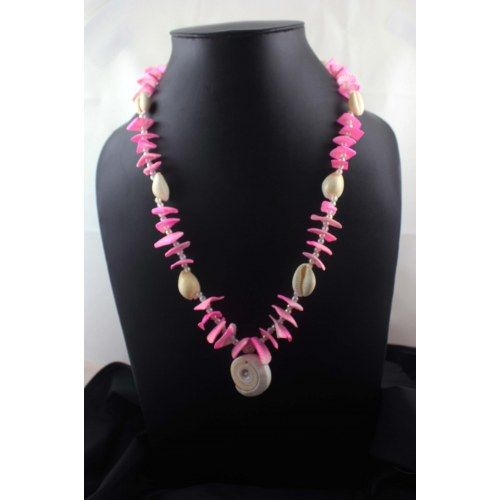 Funky pink color necklace - Online Shopping for Necklaces by Jewel Blush