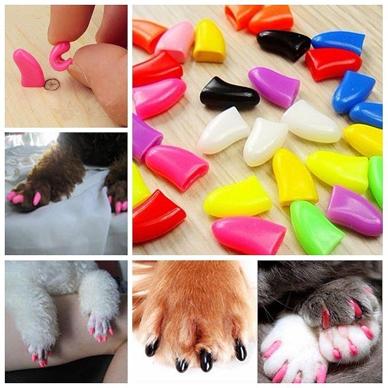 5.49 AUD 100Pcs Soft Pet Nail Caps Avoid Scratching Dog