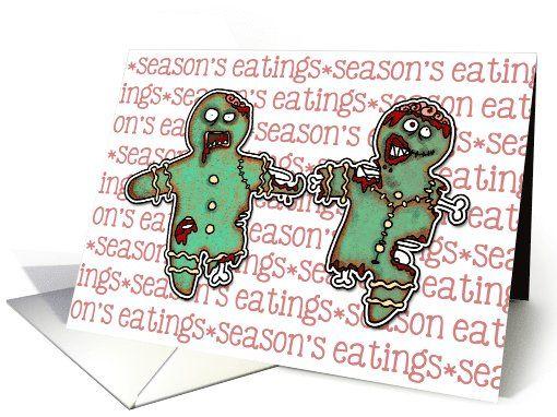 Zombie Christmas Season S Eatings Card Zombie Christmas