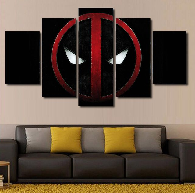 Cheap picture for living room buy quality wall pictures directly from china hd prints suppliers unframed canvas painting hd printed comics deadpool movie