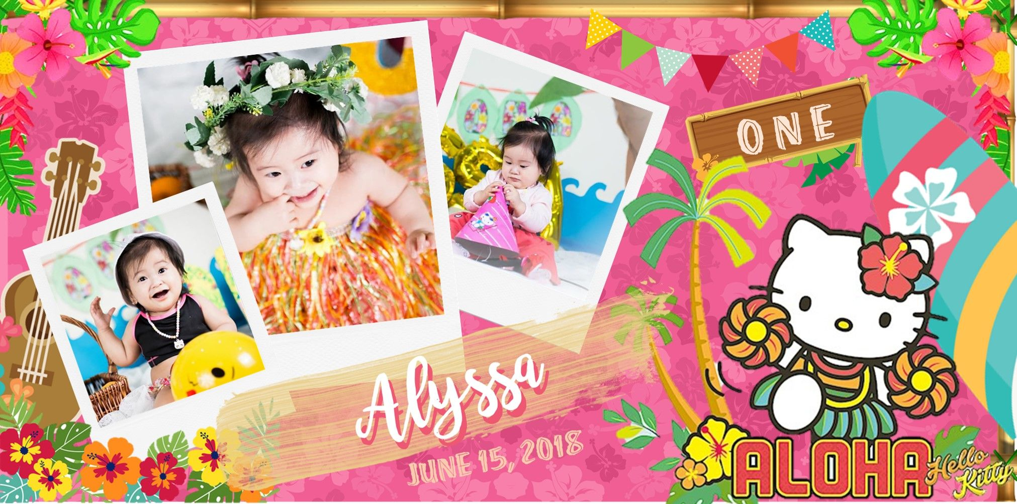 My Very First Tarpaulin Layout Hello Kitty Hawaiian For First