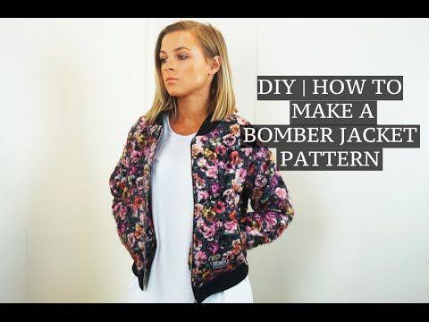 DIY   How To Make A Bomber Jacket Pattern   Josh Barnett   Clothing ...