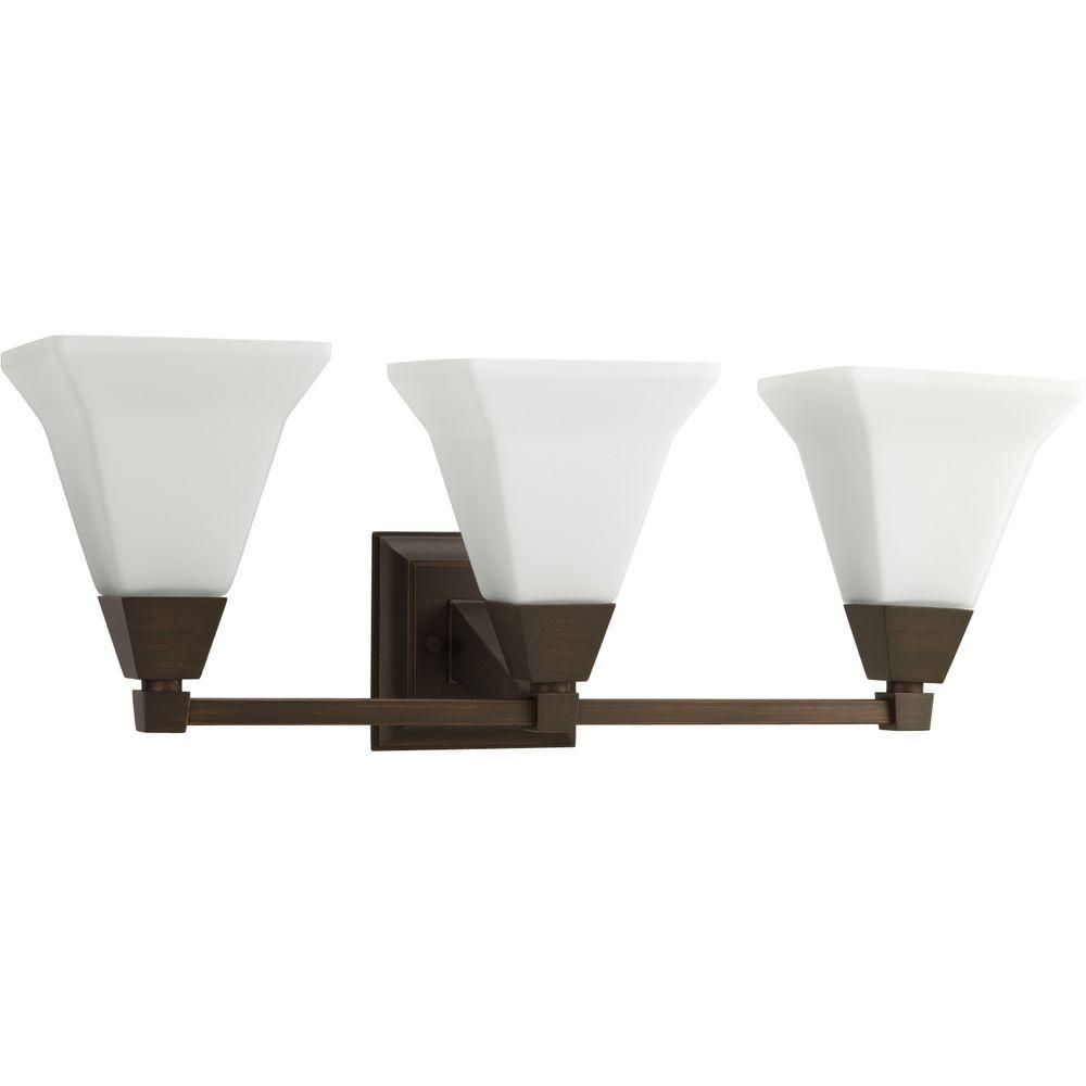 Photo of Progress Lighting Glenmont Collection 2-light vanity lamp made of brushed nickel with glass shades P3136-09 – The Home Depot