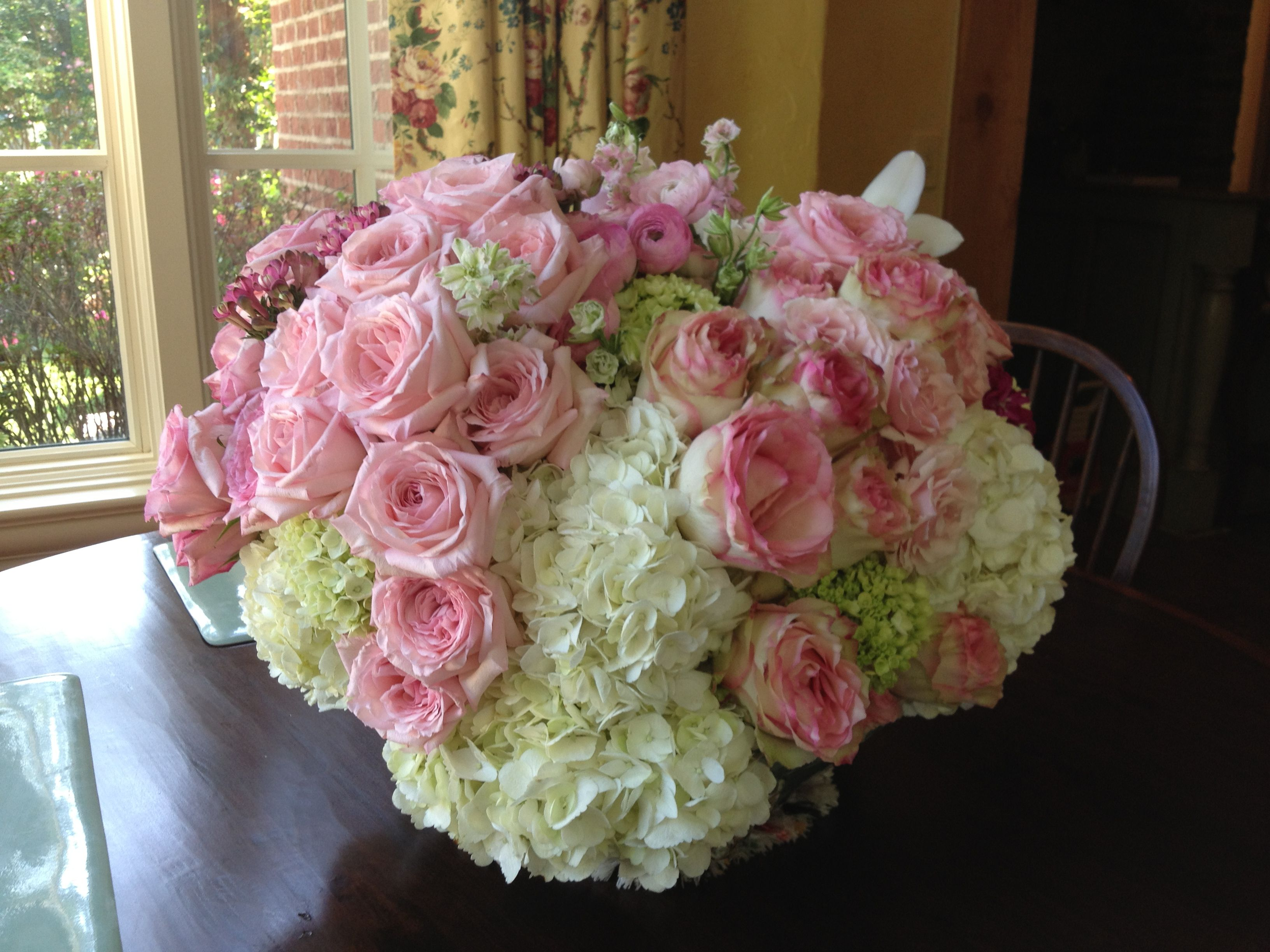 Pink and White floral arrangement by Southern Event ...