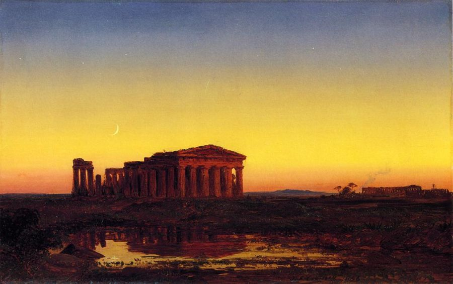 Evening at Paestum by Jasper Francis Cropsey