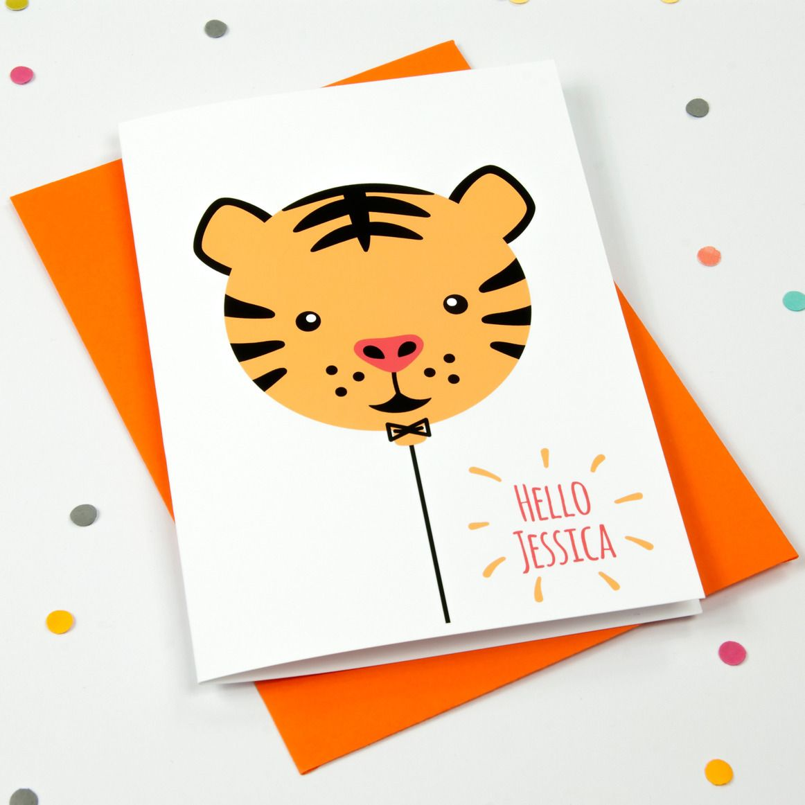 A Fun And Happy Card For Saying Hello To A New Arrival Macie Dot
