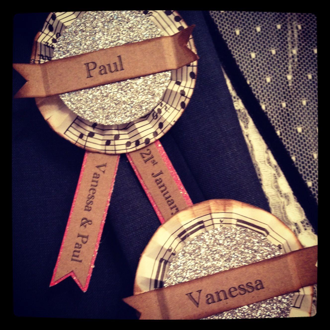 Rosette name badges | VANESSA SHELDRICK & PAUL BOWDEN ...
