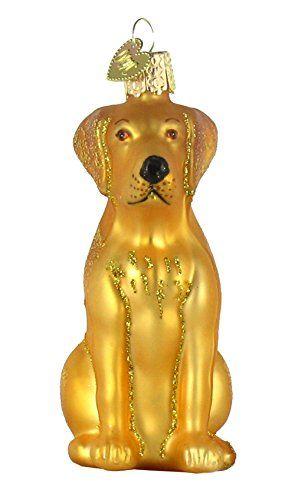 Old World Christmas Yellow Labrador Glass Blown Ornament \u003e\u003e\u003e Read