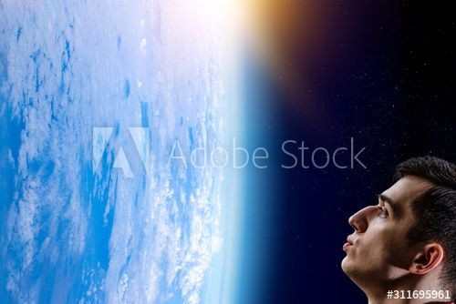 Man kissing Earth planet . Mixed media , #Aff, #Earth, #kissing, #Man, #media, #Mixed #Ad